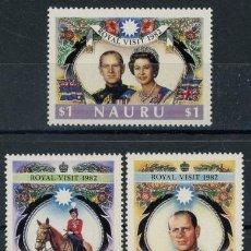 Nauru 1982 Ivert 255/7 *** Visita Real - Reina Isabel II y Principe Philip