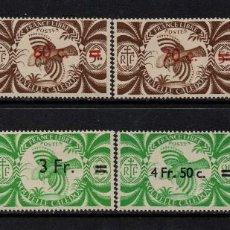 Sellos: NUEVA CALEDONIA 249/56** - AÑO 1945 - FAUNA - AVES. Lote 84564404