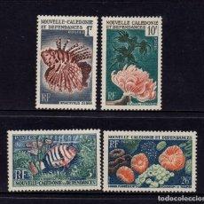 Sellos: NUEVA CALEDONIA 291/94* - AÑO 1959 - FAUNA MARINA - PECES Y CORALES. Lote 84564908
