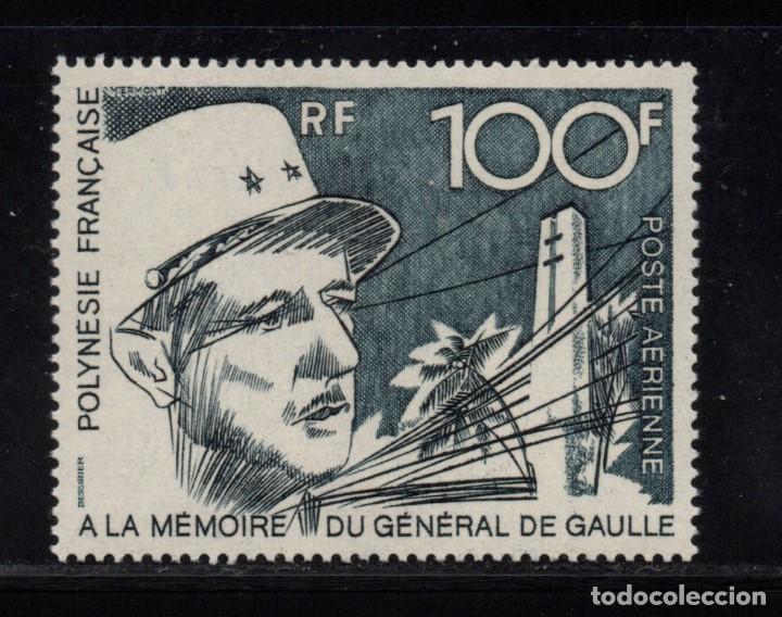 POLINESIA AÉREO 70** - AÑO 1972 - EN MEMORIA DEL GENERAL DE GAULLE (Sellos - Extranjero - Oceanía - Otros paises)
