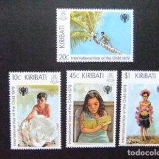Sellos: KIRIBATI EX GILBERT 1979 AÑO INTERNACIONAL DE LA INFANCIA YVERT N 21 / 24 ** MNH. Lote 90863635