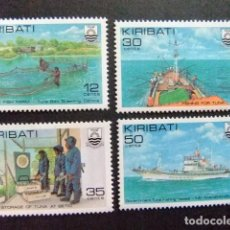 Sellos: KIRIBATI EX GILBERT 1981 INDUSTRIA DE LA PESCA DE ATUN YVERT N 56 / 59 ** MNH. Lote 90938745