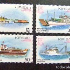Sellos: KIRIBATI EX GILBERT 1984 BARCOS YVERT N 118 / 21 ** MNH. Lote 90971260