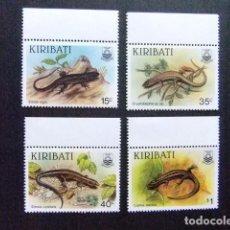Sellos: KIRIBATI EX GILBERT 1987 FAUNA LAGARTOS YVERT N 172 / 75 ** MNH . Lote 90971900