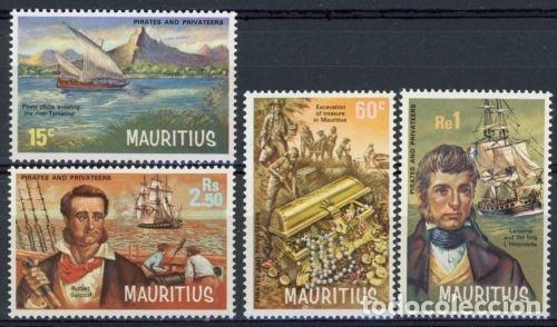 MAURICIO 1972 IVERT 385/8 *** PIRATAS Y CORSARIOS - BARCOS (Sellos - Extranjero - Oceanía - Otros paises)
