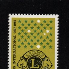 Sellos: NORFOLK 93** - AÑO 1967 - 50º ANIVERSARIO DE DE LIONS INTERNACIONAL. Lote 95509443