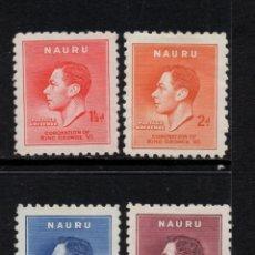 Sellos: NAURU 33/36* - AÑO 1937 - CORONACIÓN DE JORGE VI. Lote 95509523