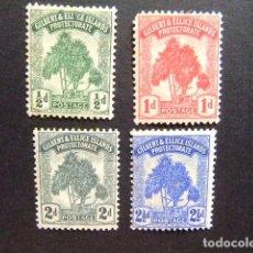 Sellos: GILBERT & ELLICE ISLANDS ISLAS GILBERT Y ELLICE 1911 PANDANUS YVERT N 8 / 11 * MH VER FOTOS. Lote 95971323