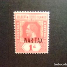 Sellos: GILBERT & ELLICE ISLANDS ISLAS GILBERT Y ELLICE 1918 GEORGE V WAR TAX YVERT 25 * MH. Lote 194199388