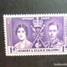 Sellos: GILBERT & ELLICE ISLANDS ISLAS GILBERT Y ELLICE 1935 JUBILÉ DE GEORGE V YVERT N 35 * MH. Lote 95971563