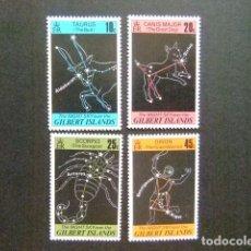 Sellos: GILBERT ISLANDS EX GILBERT Y ELLICE 1978 CONSTELLATIONS YVERT N 56 / 59 ** MNH. Lote 96446571