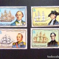 Sellos: GILBERT ISLANDS EX GILBERT Y ELLICE 1977 EXPLORATEURS YVERT N 44 / 47 ** MNH. Lote 96447127