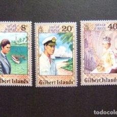 Sellos: GILBERT ISLANDS EX GILBERT Y ELLICE 1977 25º ANIVERSARIO SUBIDA AL TRONO DE REINA YVERT N 41/43 **. Lote 96447535