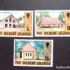 Sellos: GILBERT ISLANDS EX GILBERT Y ELLICE 1976 SERIE COURANTE YVERT N 22+24+28 ** MNH. Lote 96448071