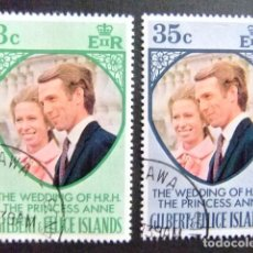 Sellos: GILBERT & ELLICE ISLANDS ISLAS GILBERT Y ELLICE 1973 MARIAGE ANNE ET MARK YVERT N 211 / 12 FU. Lote 96450071