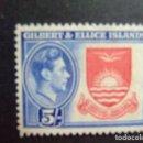 Sellos: GILBERT & ELLICE ISLANDS ISLAS GILBERT Y ELLICE 1939 - 55 ESCUDO YVERT N 49 ** MNH. Lote 96451531