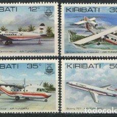 Sellos: KIRIBATI 1982 IVERT 78/81 *** AVIONES DE LA COMPAÑIA AEREA AIR TUNGAU. Lote 97843671