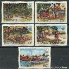 Sellos: KIRIBATI 1983 IVERT 104/8 *** INDUSTRIA DEL COCO - NATURALEZA. Lote 97843907