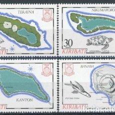Sellos: KIRIBATI 1984 IVERT 114/7 *** MAPAS DE LAS ISLAS (III). Lote 97844155