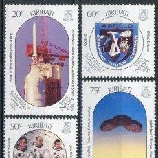 Sellos: KIRIBATI 1989 IVERT 199/202 *** 20º ANIVERSARIO DEL PRIMER HOMBRE EN LA LUNA - CONQUISTA DEL ESPACIO. Lote 97844919