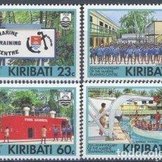 Sellos: KIRIBATI 1992 IVERT 262/5 *** 25º ANIVERSARIO DEL CENTRO DE ENTRENAMIENTO DE LA MARINA - BARCOS . Lote 97845463
