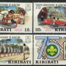 Sellos: KIRIBATI 1982 IVERT 88/91 *** 75º ANIVERSARIO DEL SCOUTISMO. Lote 102063931