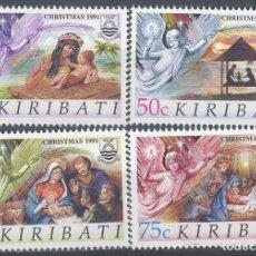Sellos: KIRIBATI 1991 IVERT 249/52 *** NAVIDAD - PINTURA RELIGIOSA. Lote 102064127