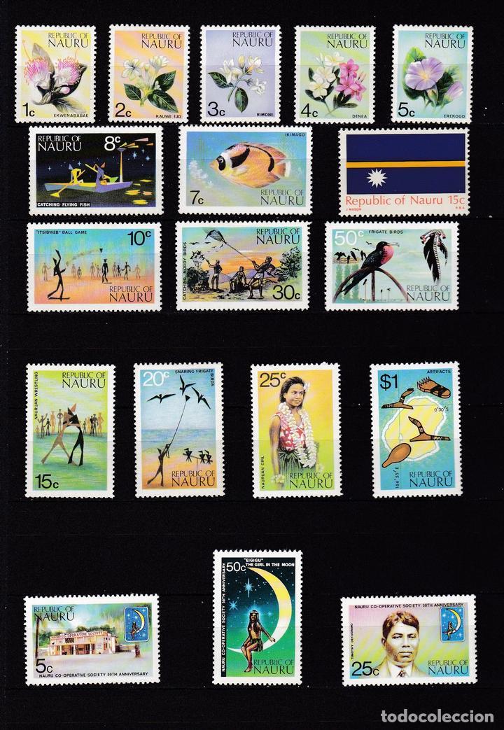 NAURU ISLAND AÑO 1973 NUEVOS * (MH) LOTE 67 (Sellos - Extranjero - Oceanía - Otros paises)