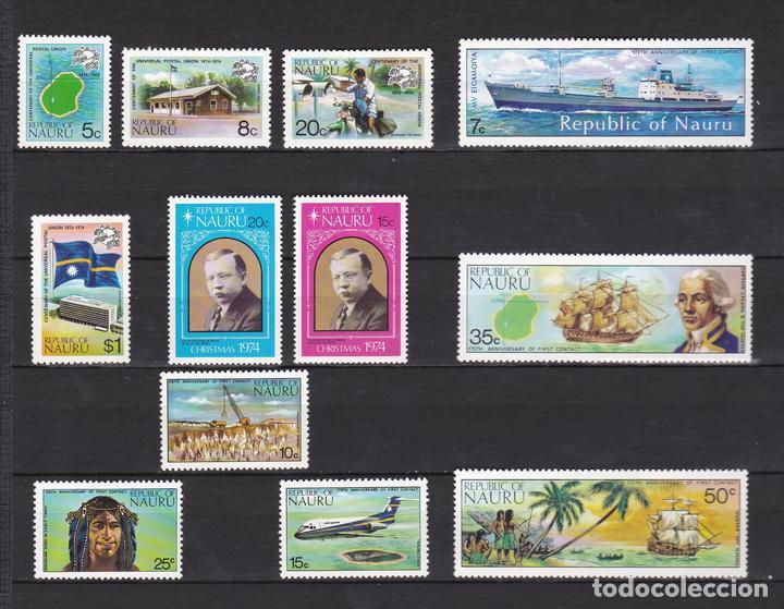 NAURU ISLAND AÑO 1974 NUEVOS * (MH) LOTE 67 B (Sellos - Extranjero - Oceanía - Otros paises)
