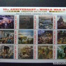Sellos: PALAU 1995 WORLD WAR 2 CAMPAIGN OF THE PALAUS YVERT 845 / 56 ** MNH. Lote 104388787