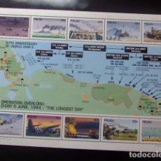 Sellos: PALAU 1994 50 ANNNIVERSARY OF WORLD WAR II YVERT & TELLIER Nº 636 / 645 ** MNH. Lote 104468987