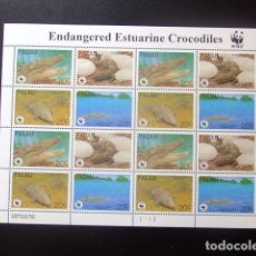 Sellos: PALAU 1995 PROTECCION DE LA FAUNA WWF REPTILES YVERT 618 / 621 ** MNH. Lote 104470435