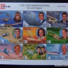 Sellos: PALAU 1996 CIRCUMNAVIGATEURS PAR AIR ET DANS L'ESPACE YVERT PA 56 / 63 ** MNH. Lote 104478239