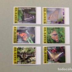 TONGA /NIUAFO'OU 2015 -16 FAUNA Mariposas Butterflies Papillons Yvert PA expres EMS