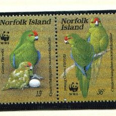 Sellos: ISLAS NORFOLK 1987 MI 421 A 424 4 SELLOS MNH + 4 FDC + 4 TARJETAS MAXIMAS WWF. Lote 106993063