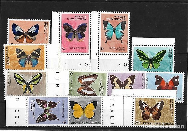 PAPUA NUEVA GUINEA 1966 MARIPOSAS SERIE COMPLETA NUEVOS (Sellos - Extranjero - Oceanía - Otros paises)