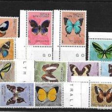 Sellos: PAPUA NUEVA GUINEA 1966 MARIPOSAS SERIE COMPLETA NUEVOS . Lote 107037815