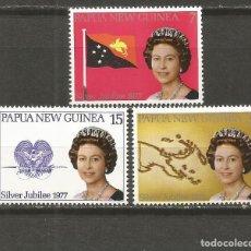 Sellos: PAPUA NUEVA GUINEA SILVER JUBILEE YVERT NUM. 320/322 ** SERIE COMPLETA SIN FIJASELLOS. Lote 112163823