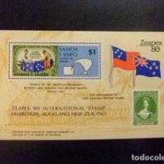 Sellos: SAMOA 1980 ZEAPEX 80 EXPO YVERT N BLOC 22 ** MNH. Lote 115276567