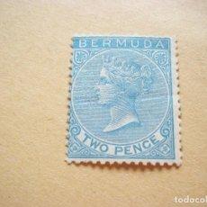 Sellos: SELLOS ANTIGUO BERMUDA 2 PENSE NUEVOS CON GOMA. Lote 116221063