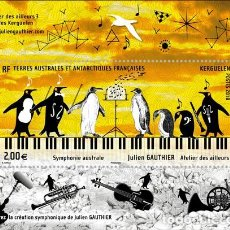 Sellos - TAAF 2018 - Symphonie australe - Julien Gauthier souvenir sheet mnh - 156916246