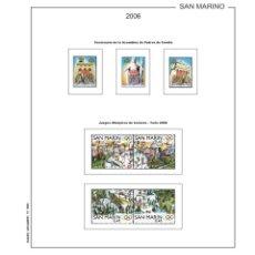 Sellos: HOJAS DE SELLOS FILKASOL MONTADAS SAN MARINO SUPLEMENTO 2006. Lote 123892416
