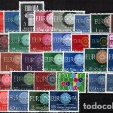Sellos: TEMA EUROPA - 1960 - COMPLETO TEMA EUROPA 36 SELLOS. Lote 123920867
