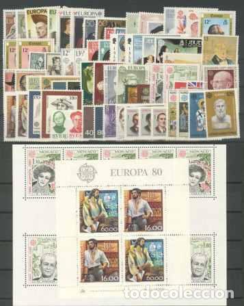 TEMA EUROPA 1980 - COMPLETO TEMA EUROPA 67 SELLOS + 2 HB (Sellos - Extranjero - Oceanía - Otros paises)