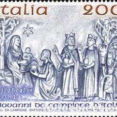 Sellos - Italia - 1514 - 1981 Navidad-adoración de los Magos-bajorelieve-Lujo - 123923295