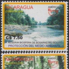 Sellos: NICARAGUA 2599/2600 2004 SERIE AMÉRICA UPAEP MEDIO AMBIENTE MNH. Lote 123932616
