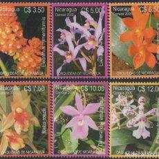 Sellos: NICARAGUA 2624/2629 2005 ORQUÍDEAS DE NICARAGUA MNH. Lote 123932656
