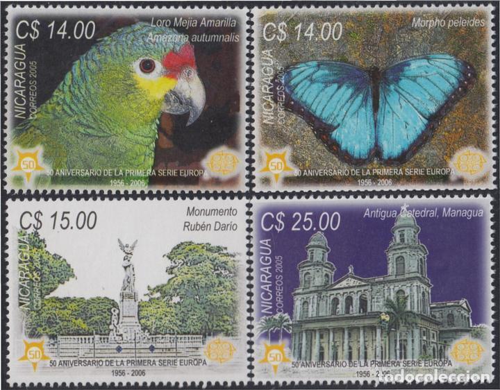 NICARAGUA 2637/2640 2005 50 AÑOS DE LA PRIMERA SERIE DEL TEMA EUROPA MNH (Sellos - Extranjero - Oceanía - Otros paises)