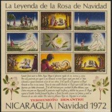 Sellos - Nicaragua HB 112 1973 Navidad Chritsmas Sismo Terremoto MNH - 123932848