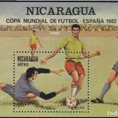 Sellos: NICARAGUA HB 150 1981 ESPAÑA 82 COPA DEL MUNDO DE FÚTBOL MNH. Lote 123932964